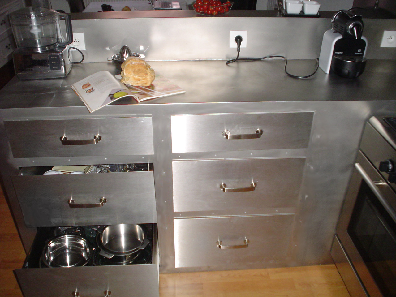 agencement magasin / mobilier | safm & localicsol - Meuble Inox Cuisine
